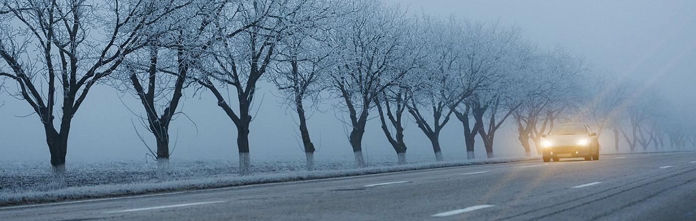 روشن کردن جاده در فصل زمستان